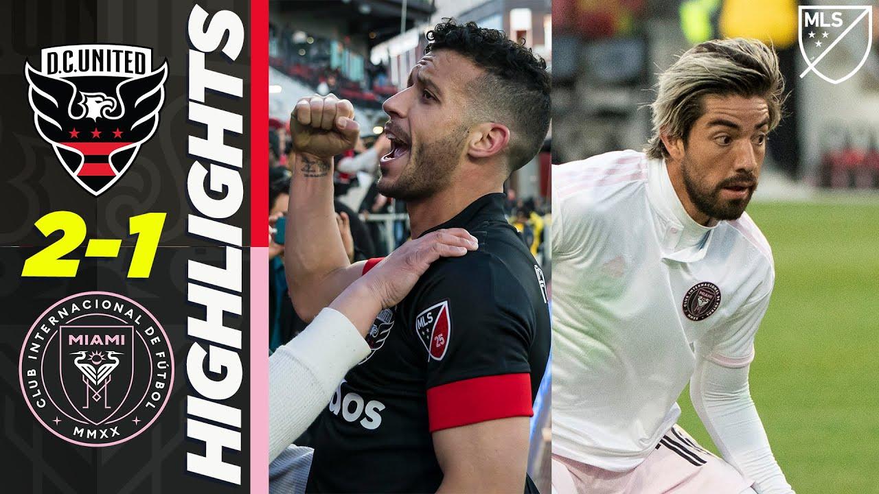 D.C. United 2-1 Inter Miami | VAR Red Card Overshadows Pizarro's First Goal | MLS HIGHLIGHTS