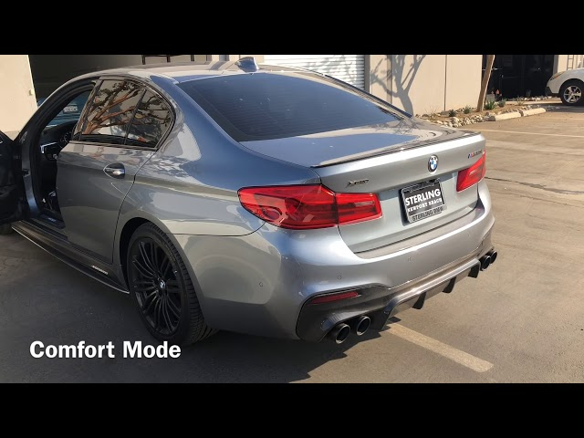 AC Schnitzer Exhaust with Evolution Racewerks Catless Downpipe on BMW G30 M550iX