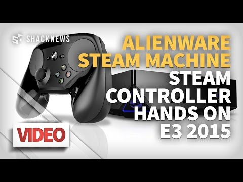 Hands on Steam Controller & Alienware Steam Machine E3 2015
