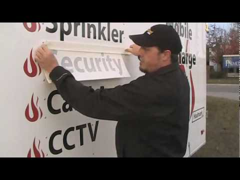 Applying Vinyl Letters and Graphics to a Trailer - Part 1