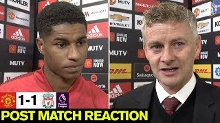 Solskjaer & Rashford look back on Liverpool draw | United 1-1 Liverpool | Premier League