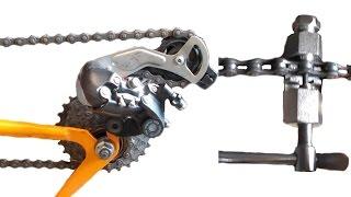 Длина цепи, как определить длину цепи, снять и натянуть цепь на велосипеде.(Мой ВК https://vk.com/id263241899 Полезные видео с моего канала, о ремонте велосипеда. 1) Задняя втулка колеса обслуживан..., 2015-04-04T06:10:55.000Z)