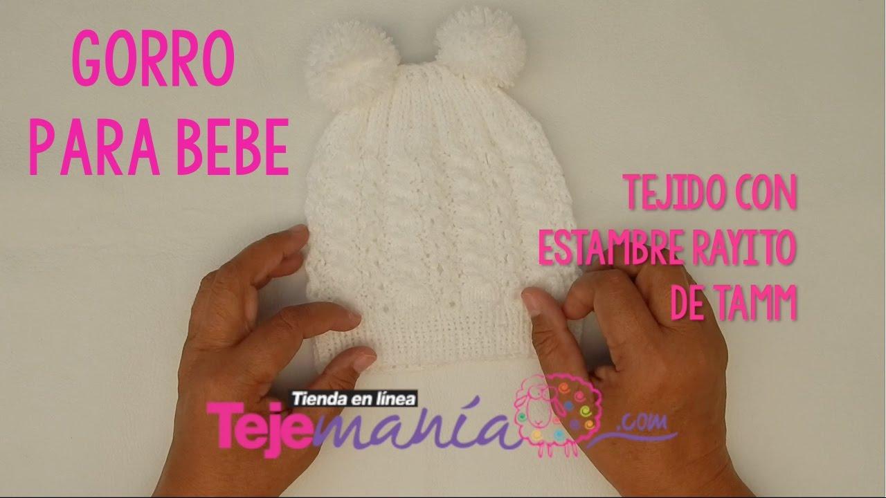 DIY Cómo tejer Gorro para Bebé con Orejas - YouTube 18108f503a2