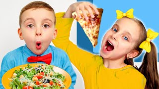 Pretend Play School & Eat not Healthy food by Fursiki show