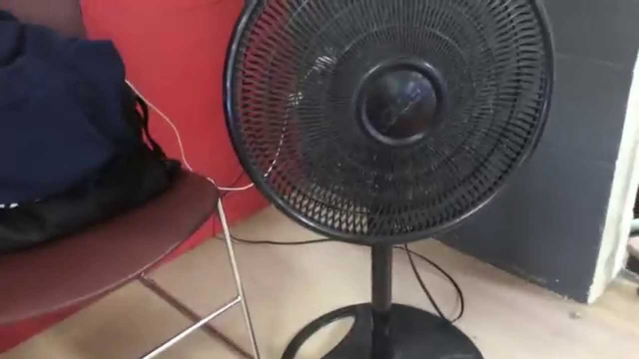 Galaxy Pedestal Fan : Galaxy pedestal fan at ymca workout gym youtube