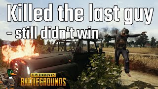 I killed the last guy - still didn't win [PUBG]