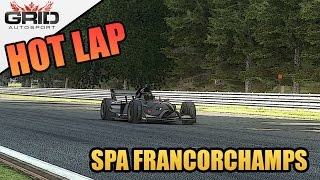 Grid Autosport Gameplay - Hot Lap - Formula B - Spa Francorchamps