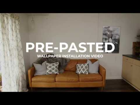 Pre Pasted Wallpaper Installation Video Anewall Youtube