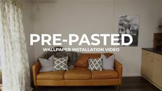 Pre Pasted Wallpaper Installation Video | anewall