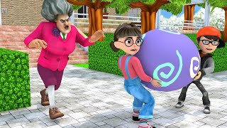 Scary Teacher 3D - Nick and Tani - Troll Miss T - Destroy the Egg Feast |VMAni Funny|