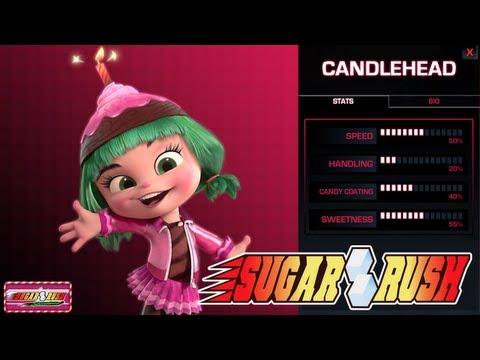 Sugar Rush Gameplay (Candlehead Selected) - Wreck-It Ralph