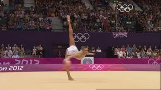 Evgeniya Kanaeva Wins Rhythmic All-Around Gymnastics Gold - London 2012 Olympics(Click here for all Olympic highlights and let the Games never end: http://go.olympic.org/watch?p=yt&teaser=b Highlights from the Wembley Arena as the Russian ..., 2012-08-11T19:40:54.000Z)