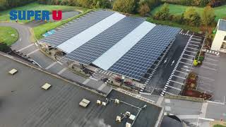 Parking couvert photovoltaïque SUPER U CHAMPDENIERS