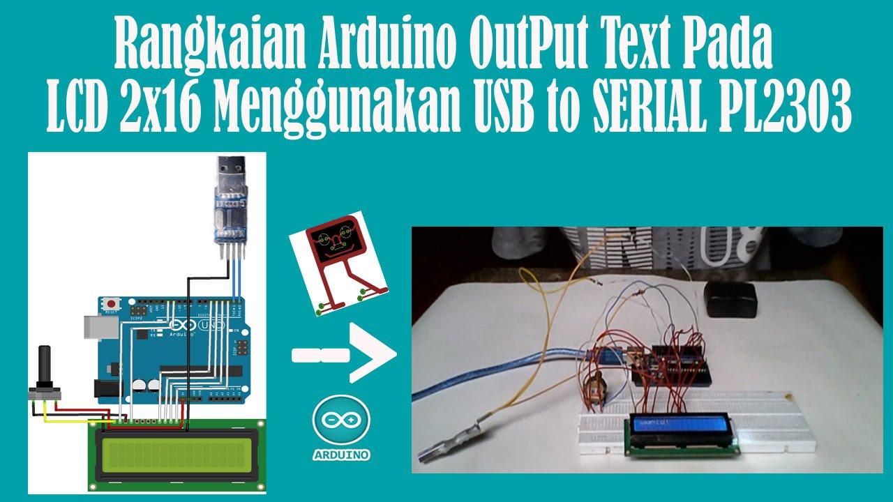 Belajar arduino rangkaian output text pada lcd