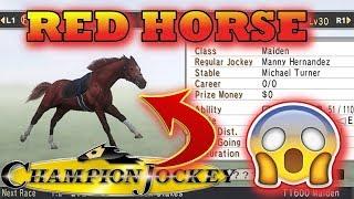 Champion Jockey G1 Jockey & Gallop Racer - Red horse winning maiden race