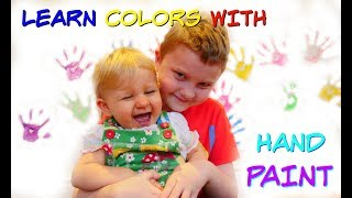 Learn Colors With HAND PAINT & Skip To My Lou NURSERY RHYME SONG