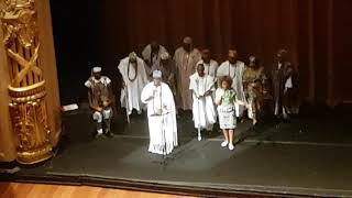 Black Royal Visit: The King of Ife addresses a audience of Afro brazilians