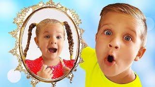 O Espelho Mágico atende o desejos de Diana e Roma