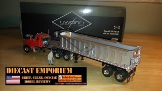 Sword Peterbilt 357 Day Cab Tractor with East Dump Trailer
