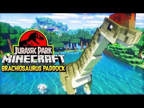 Let's Build Jurassic Park | THE BRACHIOSAURUS PADDOCK (Minecraft Jurassic Park Dinosaurs #3)