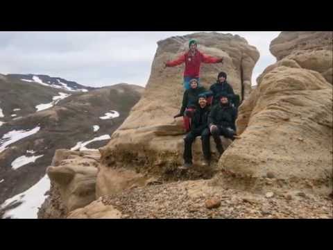 geological fieldwork, east Greenland, summer 2014