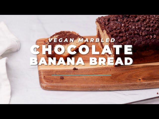 MARBLED VEGAN CHOCOLATE BANANA BREAD | Vegan Richa Recipes