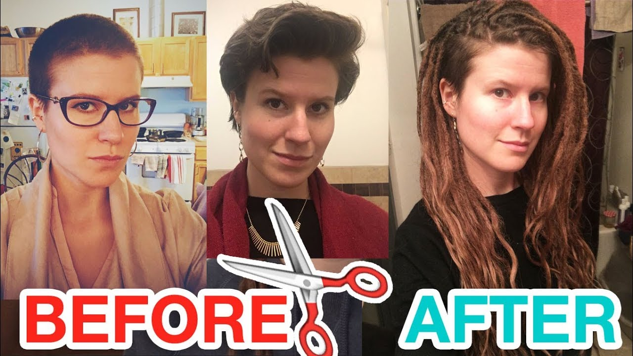 Attaching Dreadlock Extensions To Very Short Hair Cosmohippie Youtube