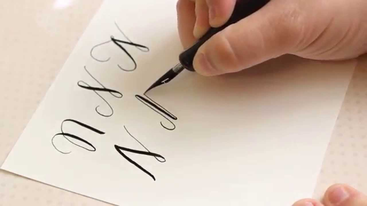 The letter n basic calligraphy tutorial youtube Calligraphy youtube