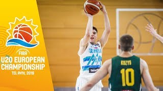 Slovenia v Lithuania - Full Game - FIBA U20 European Championship 2019