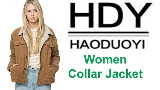 Haoduoyi Winter Casual Brown Women Jacket  || Best Winter Women Jacket  ||