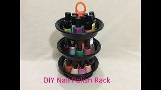 DIY Nail Polish organizer/Holder/Rack (reuse/recycle food containers)