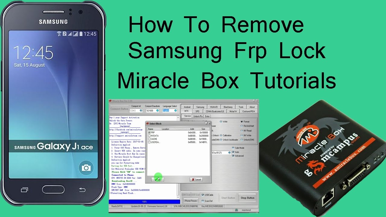 How To Reset Samsung Frp Lock ! Miracle Box Tutorial !