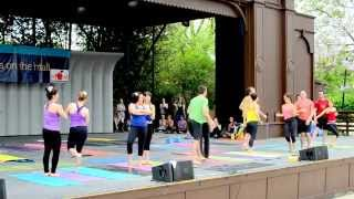 AcroYoga performance at Yoga on the Mall 2015