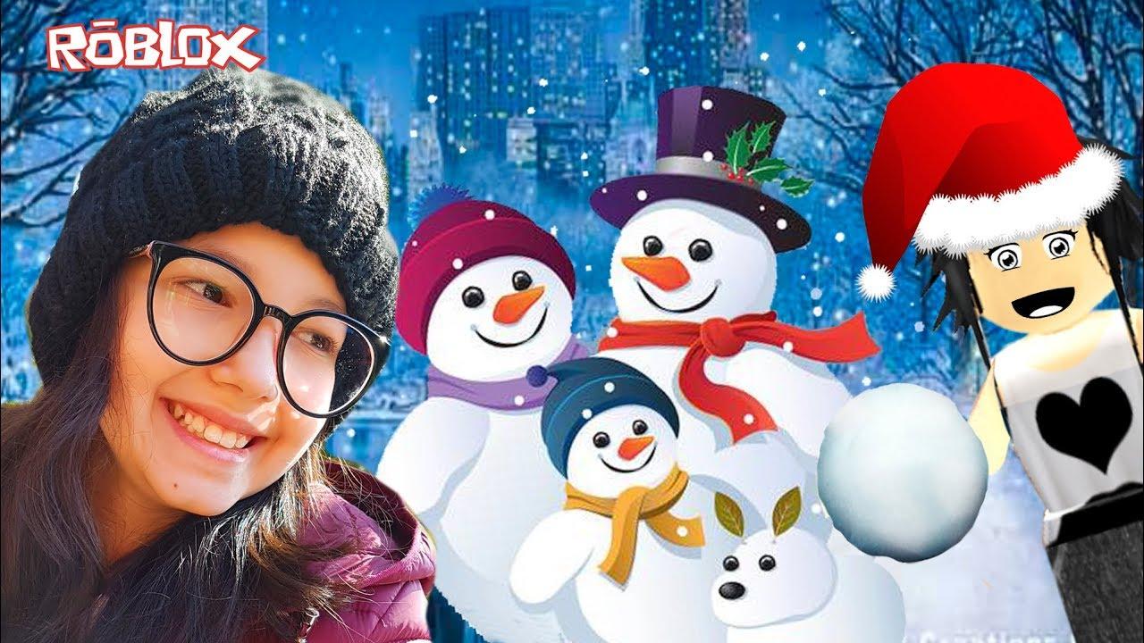Roblox - FAZENDO BONECO DE NEVE NO NATAL (Snowman Simulator) | Luluca Games