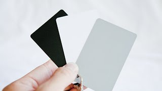 White Balance Card u0026 Grey Card For Video and Photography