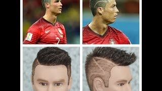 Cristiano Ronaldo Zig Zag World Cup 2014 Haircut Tutorial
