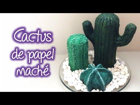Cactus de papel maché, Paper Mache Cactus