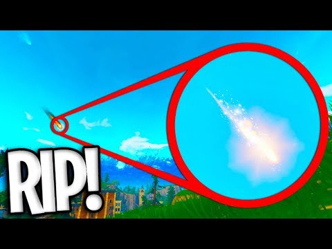 *IT'S HAPPENING* THE FORTNITE METEOR IS FALLING RIGHT NOW!