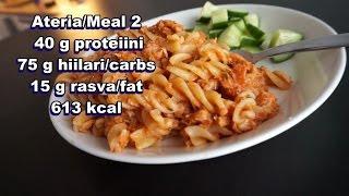 Fastest tuna pasta | Full day of eating with full macros | Päivän syömiset