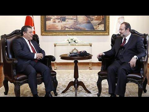 Diyanet İşleri Başkanı Görmez, KKTC Milli Eğitim Bakanı Kemal Dürüst ile bir araya geldi.