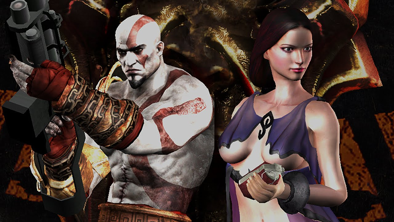 Resident Evil 4 UHD - God Of War 3 mod DEMO - YouTube