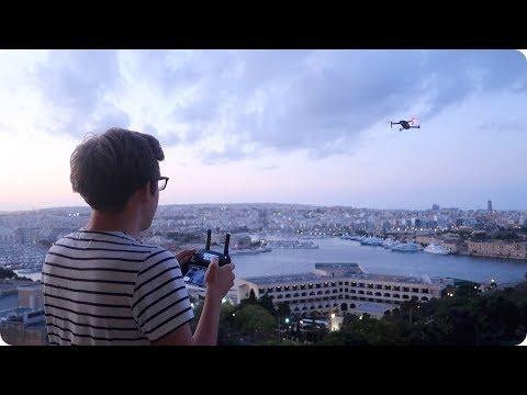 CRAZY DRONE FLIGHT IN VALLETTA MALTA! | Evan Edinger Travel