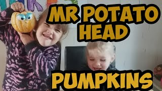 Mr Potato head pumpkins - pumpkin decorating - Halloween crafts - Mr potato head - kids craft ideas