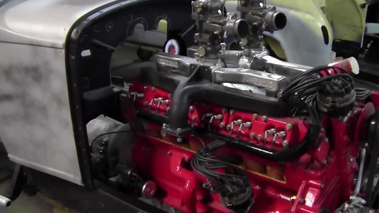 Diesel Engine Working >> North Texas Customs // '57 V12 Fire Truck Engine into '31 Studebaker - YouTube