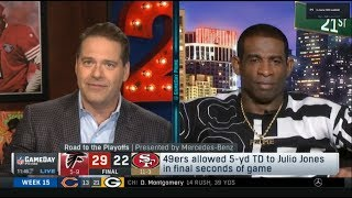 NFL GameDay Prime   Deion Sanders on 49ers allowed 5-yd TD to Julio Jones in final seconds of game