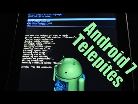 ANDROID 7.1 NOUGAT telepítés régebbi telefonokra + Filó a telókról (iphone vs android)