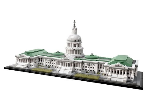 Lego Architecture 21030 - United States Capitol Building - Lego Speed Build