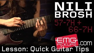 Nili Brosh gives quick guitar tips on EMGtv