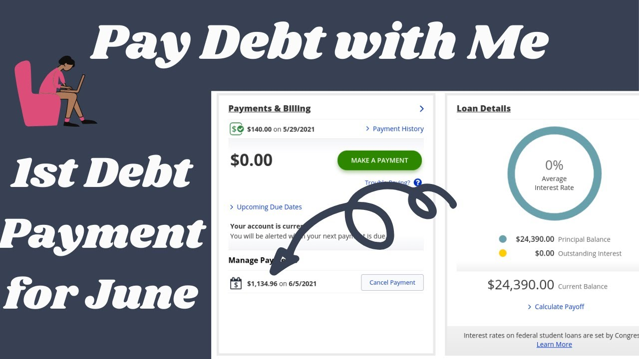 Pay Debt with Me| June 2021-1st Debt Payment of the Month| Debt: $24,390