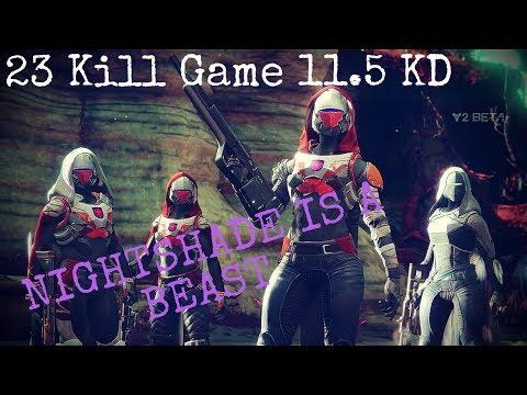 Destiny 2 Beta - 23 Kill Game 11.5 KD - High Kill Game - 4v4 Control